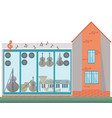architecture facade of a music house vector image