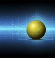 sphere metric concept technology vector image
