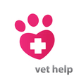 veterinary care vector image vector image