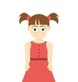 happy girl with pigtails icon vector image
