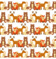 animals forest wildlife natural seamless pattern vector image