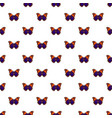 butterfly brown pattern seamless vector image