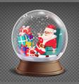 christmas 3d classic xmas snow globe vector image