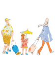 travel family vector image