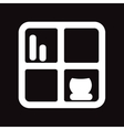 flat icon in black and white style shelf vector image