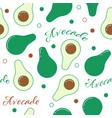 avocado line design seamless pattern vector image