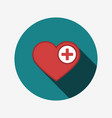 heart icon with plus vector image