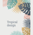 tropical leaf template in pastel colors summer vector image