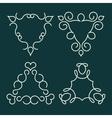 Linear logo Monogram template vector image