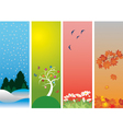 four seasons vector image