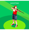 Shooting 2016 Summer Games 3D Isometric vector image vector image