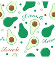 avocado line design seamless pattern vector image