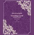 baroque invitation card rich royal vector image