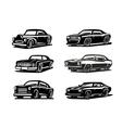 black retro car vector image
