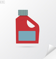 Plastic bottle for liquid laundry detergent vector image