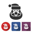 santa claus icon in different variants vector image