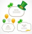 St Patrick day frames vector image