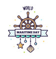 world maritime day vector image