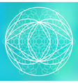 Sacred geometry symbol on colorful mesh background vector image