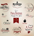 Merry christmas labels 2 vector image
