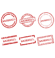 Baseball stamps vector image vector image