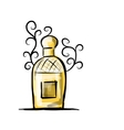 Sketch of perfume bottle for your design vector image vector image