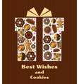Gift box with cookies vector image