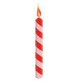Red birthday candle vector image