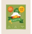 St Patrics Day poster vector image vector image