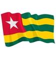 political waving flag of togo vector image