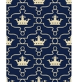 Seamless background with crowns and Fleur de lis vector image