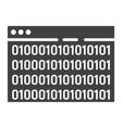 custom coding glyph icon seo and development vector image