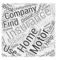 Motor Home Insurance How You Can Get It Word Cloud vector image