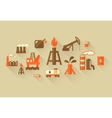 Oil Industry Infographic Template vector image