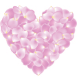 petal shaped heart vector image