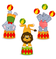 set of isolated animals in circus vector image