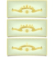 Set of winter banners with holidays design vector image