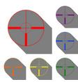 sight sign set of red orange vector image
