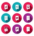 Specialized face book icon collection vector image
