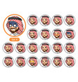 the fourth set of saudi arab man cartoon character vector image