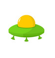 ufo isolated flying saucer on white background vector image