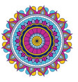 white background with colorful ornamental flower vector image