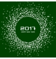 White Green New Year 2017 circle frame Background vector image