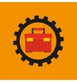 gear construction tool box red vector image
