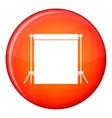 Studio backdrop icon flat style vector image