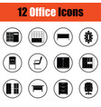 office furniture icon set vector image vector image