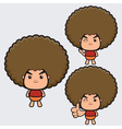 Afro Boy vector image