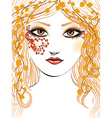 Autumn girl face vector image