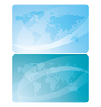 blue cards with abstractions and maps of the world vector image
