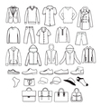 fashion casual collection set of Fashion man vector image